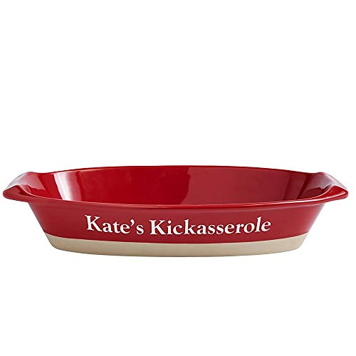 Personal Creations - Personalized Gifts Ceramic Casserole Baking Dish-Red