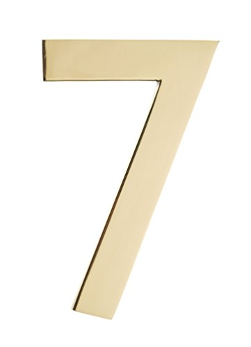 - Architectural Mailboxes 3585PB-7 Floating House Number, Polished Brass