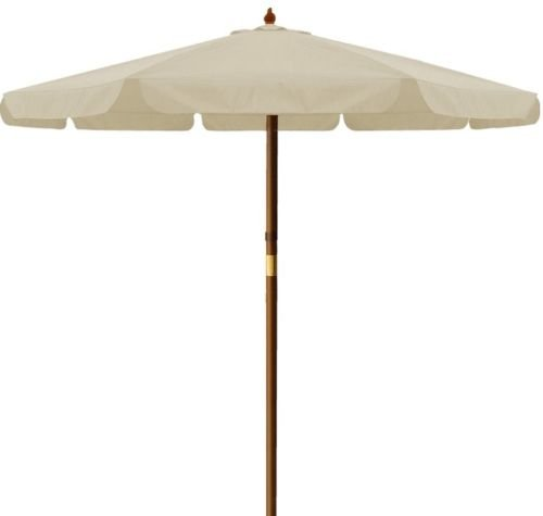 Brema 052265 Holzstockschirm 300 cm, 265, beige