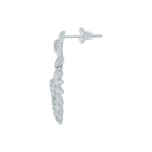 Giantti Diamant pendant matelassé pour femme Boucles d'oreilles (0.8848CT, qualité HSI, Gh-colour)