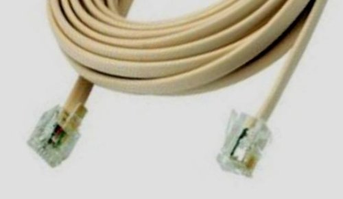 7-FT Universal (HP, Compaq, Lexmark) RJ-11 Telephone/Modem/FAX Cable (Almond)