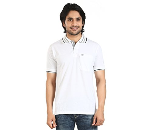 Basilio Men's Polo Neck Solid T Shirt