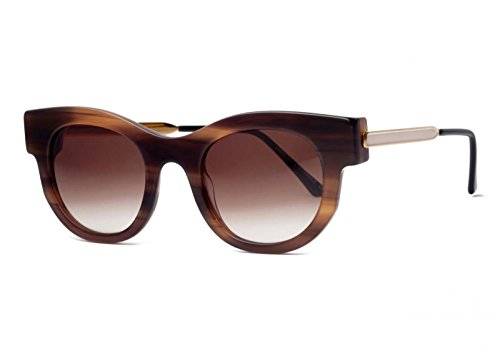 Thierry Lasry Barely Sunglasses 201 Light Brown Gold White / Brown Gradient - Lasry Thierry