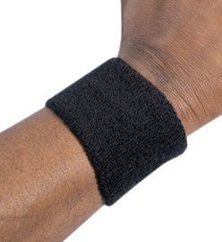 Ergodyne Chill-Its 6500 Absorptive Moisture-Wicking Wrist Sweatband, Black