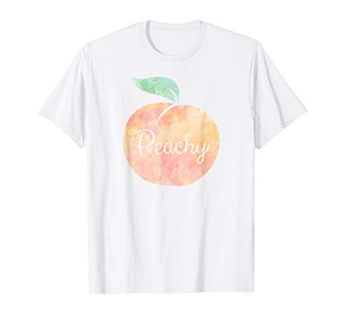 Peachy Watercolor Peach T-Shirt Fashion Tee