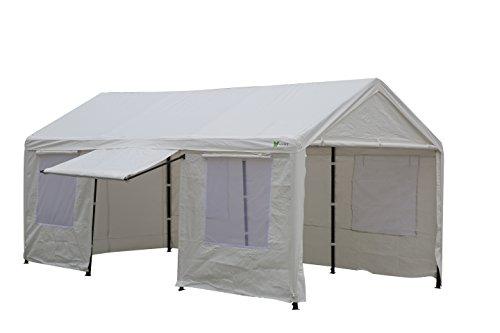 Patio Garden Heavy Carport Canopy Tent | SORARA | 10u0027 X 20u0027 | White |  Sidewalls / Door ...