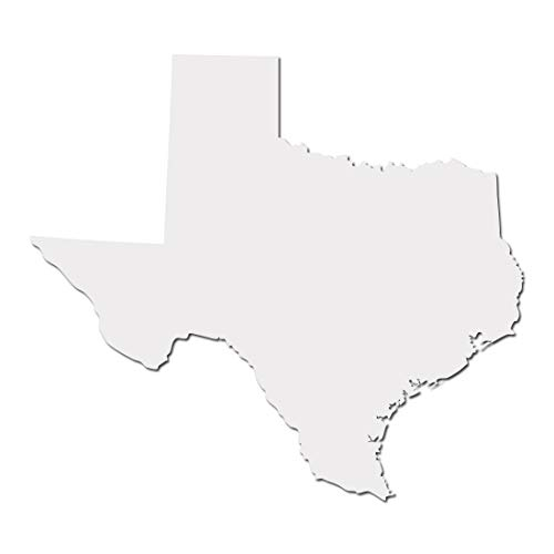 Texas Lone Star State Longhorn Pride Decal Sticker - White 5