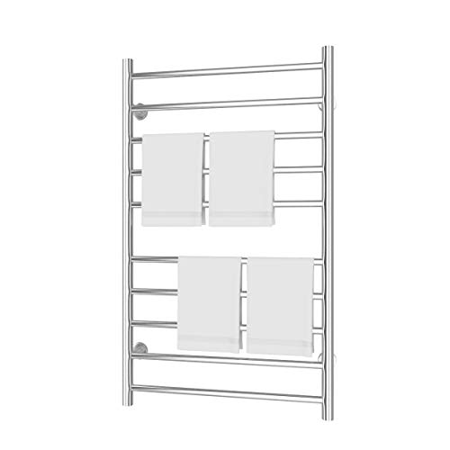 - Tangkula Towel Warmer, Home Bathroom 10 Bar Stainless Steel Space Saving Wall Mounted Cloth Towel Heated Drying Rack (20
