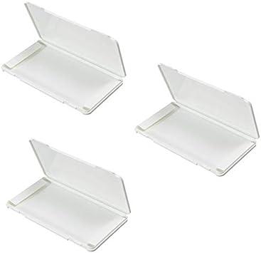 Moligh doll Caja de Almacenamiento de 3 Piezas Caja a Prueba de Polvo Boca Desechable Muffle Pad Caja Contenedor