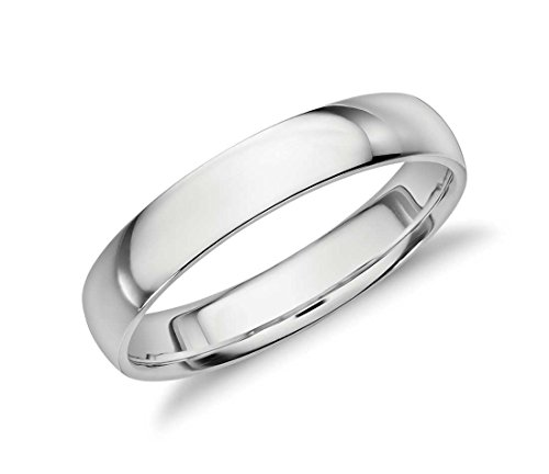 4mm Sterling Silver High Polish Plain Dome Tarnish Resistant Comfort Fit Wedding Band Ring Sizes 6-12 (11)