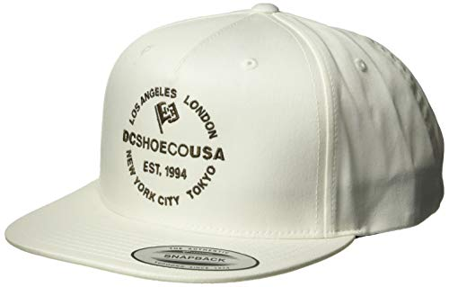 DC Men's STARLIGHTER Snapback Trucker HAT, Antique/White, 1SZ