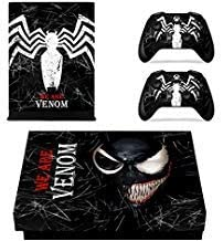 Vanknight Xbox One X Console Remote Controllers Skin Set Vinyl Skin Decals Sticker Cover for Xbox One X(XB1 X) Console Venom