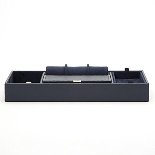WOLF 465117 Howard Valet Tray with Roll, Navy