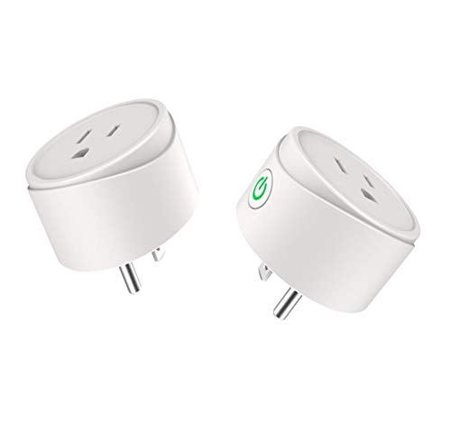 Wifi Smart Plug 2 Packs, Wifi Switch Compatible with Alexa Echo& Google Home,Tuya Smart Plug Remote Control Smart Life Outlet for Smart Home Life, DWFeng