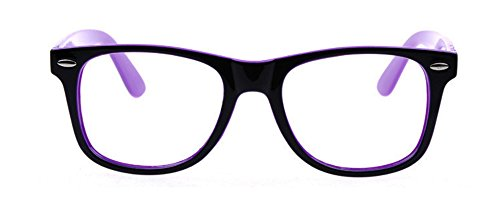 gafas Brillante lente Unisex transparente Outray Retro Wayfare Púrpura de ERRg8q