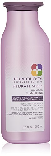 (Pureology Hydrate Sheer Moisturizing Shampoo for Color Treated Hair, Sulfate-Free, Silicone-Free,  8.5 oz.)