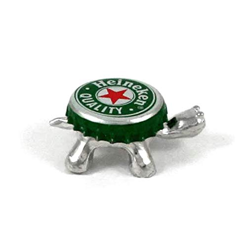 Recycled Bottle Cap Turtle -Magnetic - Change the Cap - Gift Boxed with Story Card- Handcrafted Pewter Made in USA