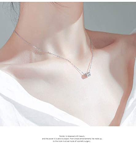 [スポンサー プロダクト]女性用ネックレス/ローズゴールドネックレス/スモールウエストネックレス/鎖骨ネックレス ネックレスレディースファッションアクセサリー誕生日プレゼントレディースアクセサリー(ローズゴールド)