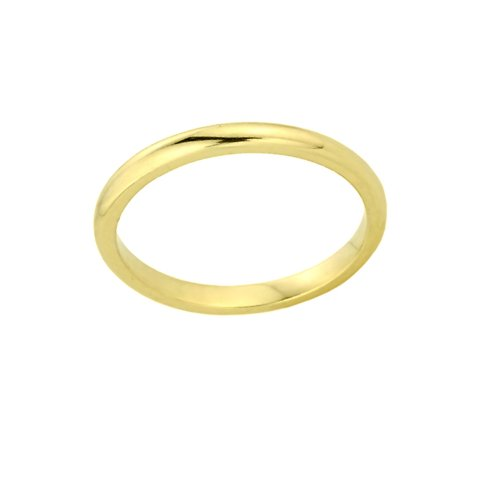 Gold Baby Ring - High Polish 14k Yellow Gold Baby Ring, Size 2