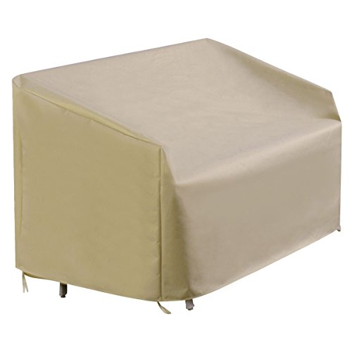Waterproof High Back Patio Three-seats Sofa Cover Outdoor Furniture Protection (Rattan Furniture Bugs)