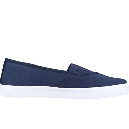 Fred Perry Aubyn High Shine Twill Womens Slip On Carbon Blue r04RuuU