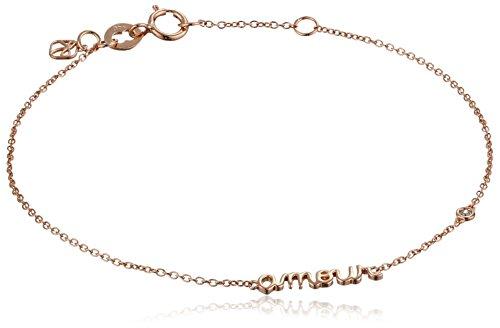 """Shy by SE """"Amour"""" Bracelet with Diamond Bezel"""