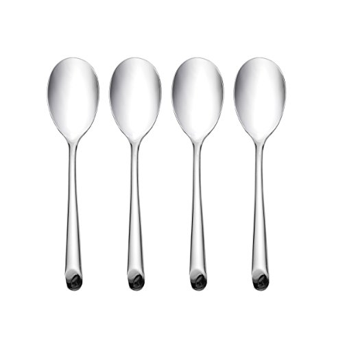 Barton New Wave - Towle Living Wave Forged Stainless Steel Dinner Spoon, Set of 4