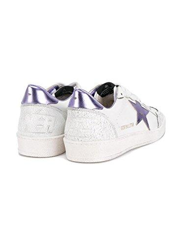 Golden Goose Damen G30WS592D9 Weiβ/Violett Leder Sneakers