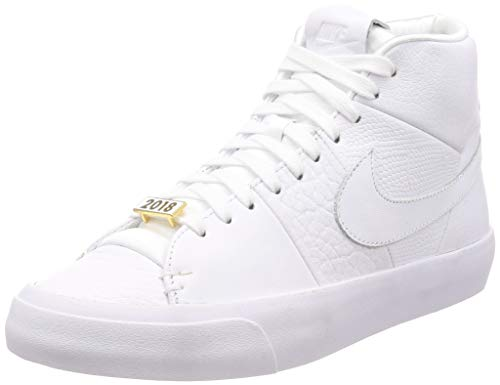 NIKE Men's Blazer Royal QS White/White/White Basketball Shoe 7.5 Men US ()