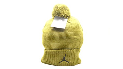 Price comparison product image [686932-356] AIR JORDAN POM BEANIE KNIT HAT APPAREL HATS AIR JORDANBLACK DARK-GREENM