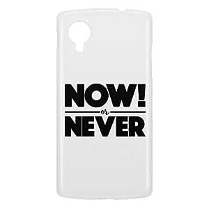 Loud Universe Nexus 5 Now! Or Never Print 3D Wrap Around Case - White/Black