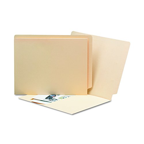 Smead End Tab Pocket File Folder with Antimicrobial Product Protection, Reinforced Straight-Cut Tab, Letter Size, Manila, 50 per Box (24116)