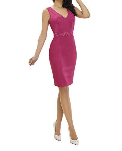 Charmant Damen Pink Chiffon Elegant Brautmutterkleider Abendkleider Partykleider Etuikleider Brautjungfernkleider