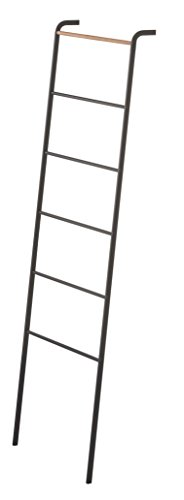 [YAMAZAKI home Tower Leaning Ladder Rack Black] (Wall Ladder)
