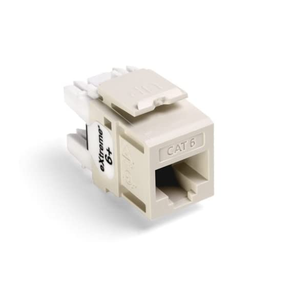 Leviton Extreme QuickPort Connector 2 Connector body is high-impact, fire-retardant plastic rated UL 94V-4 TIA/EIA channel performance limits total length of patching and equipment cords to 32 feet (10 meters) per TIA/EIA-568-B 14 colors for color-coding or organization; available in six standard lengths