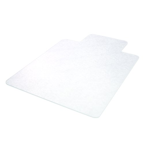 Deflecto SuperMat Clear Chair Mat, Hard Floor Use, Rectangle with Lip, Beveled Edge, 46 x 60 inches (CM24433F) by Deflecto