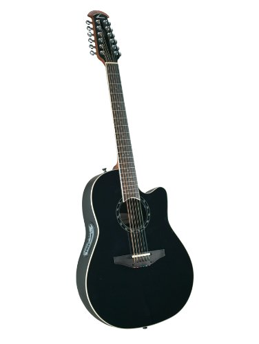 Ovation Balladeer AX Acoustic-Electric 12-String Guitar - Black