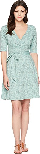 Toad&Co Women's Cue Wrap Cafe Dress Aquifer Wave Print X-Small