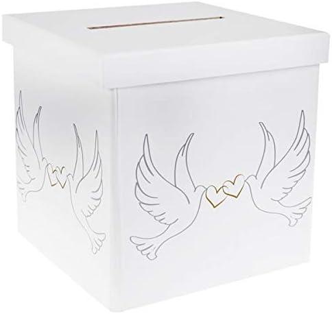 S Urne//Tirelire Mariage /él/égante colombes et Coeurs R//4492 x1