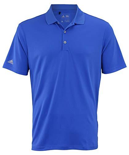 (adidas Men's Performance Polo Shirt, Vivid Blue Large)