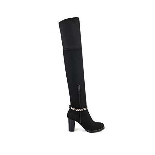 Closed Women's Boots High Black Materials Blend Top Allhqfashion Toe WXdxqFw1