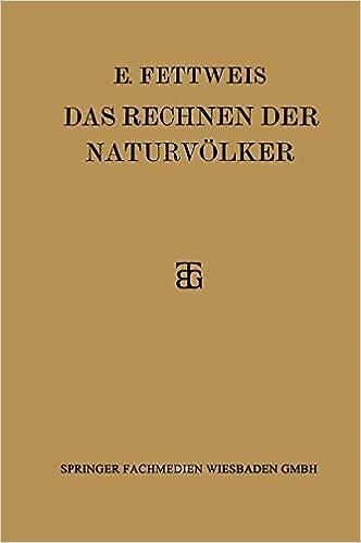 Book Das Rechnen der Naturvölker