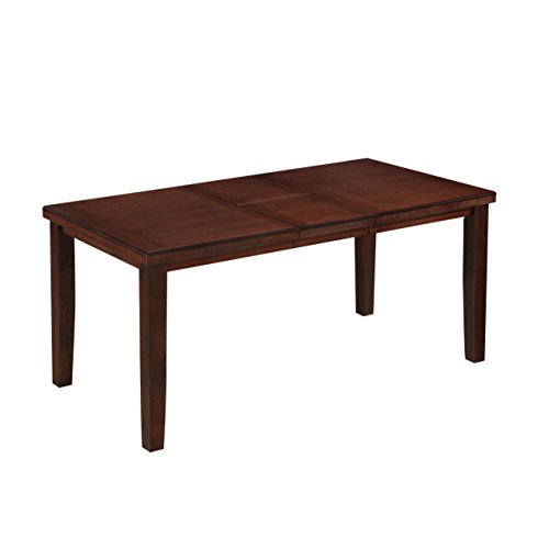 CORLIVING DWG-880-T Warm Brown Counter Height Dining Table with Hidden Extendable Leaf