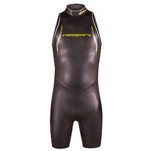 NeoSport Men's Triathlon Short Sleeveless Triathlon Wetsuit – 5mm Ultra Light Neoprene – Anatomical Fit, Superior Range…