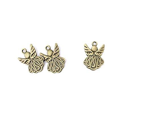 25 PCS Ancient Antique Bronze Fashion Jewelry Making Crafting Charms Findings Bulk for Bracelet Necklace Pendant Retro Accessoires Lots Vintage AYC03 Little Angel Cherub