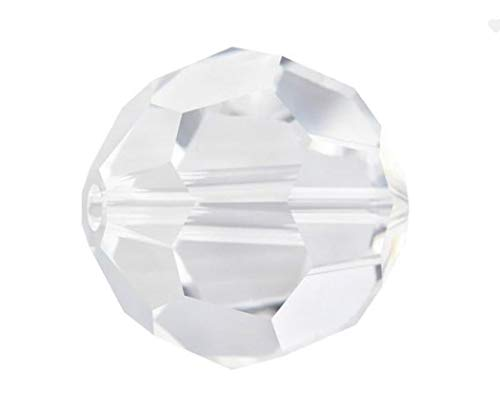 50pcs 8mm Adabele Austrian Round Crystal Beads Crystal Clear Compatible with 5000 Swarovski Crystals Preciosa SS2R-801