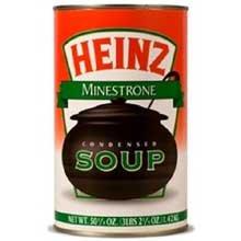 - Heinz Condensed Minestrone Soup - 51.25 oz. can, 12 per case