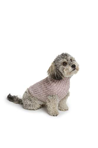 Sweater Ballet Ribbed - Barefoot Dreams CozyChic Ribbed Pet Sweater, Dog Clothes- Vintage Rose-Ballet Pink