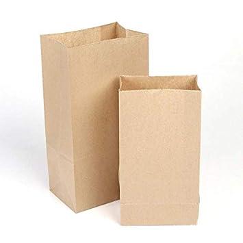 Amazon.com: LHWXSXL 100 bolsas de papel de gran tamaño para ...