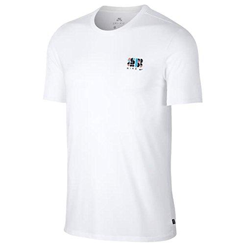 職業物語置き場NIKE SB(ナイキSB) Tシャツ 18SU DRI-FIT コットン シェイプ 911943-100 ホワイト×ブラック ナイキSB Tシャツ 【C1】